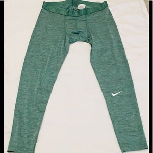 Nike Pro Dri Fit Green Compression Pants XXL
